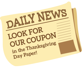 Look for our coupon in the Monday, December 5th paper